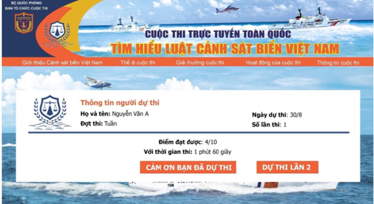 """<i class=""""fa fa-play""""></i>Tổ chức cuộc thi tìm hiểu Luật Cảnh sát biển Việt Nam"""