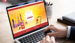 Doji - Nhà kinh doanh vàng trực tuyến đầu tiên tại Việt Nam
