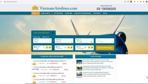 Vietnam Airlines cảnh báo website bán vé giả mạo