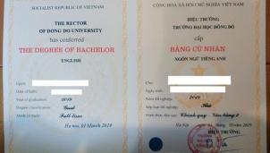 Xử lý các trường hợp người học dùng văn bằng 2 ngôn ngữ Anh của đại học Đông Đô