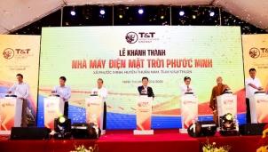 Nhà máy điện mặt trời Phước Ninh chính thức hoà lưới điện quốc gia