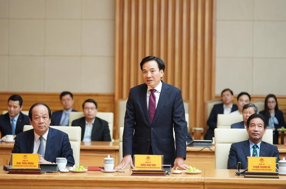 Tân Phó Chủ nhiệm Văn phòng Chính phủ Trần Văn Sơn phát biểu nhận nhiệm vụ