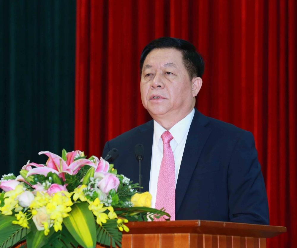 Tân Trưởng Ban Tuyên giáo Trung ương Nguyễn Trọng Nghĩa phát biểu nhận nhiệm vụ