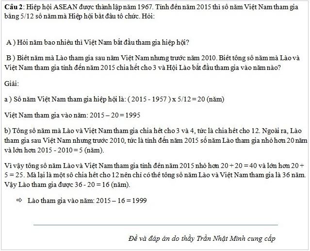 Đề thi lớp 6 môn toán trường THCS Nguyễn Tất Thành